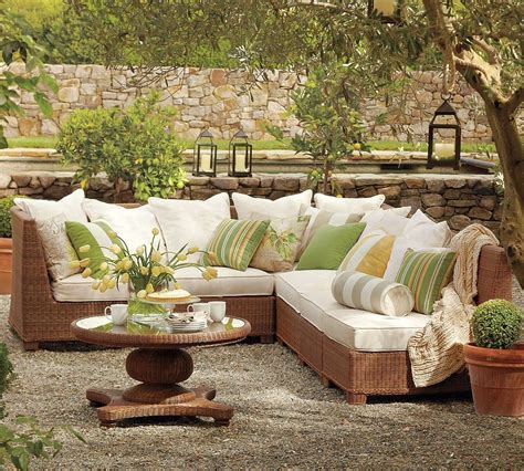 outdoor garden furniture designs  pottery barn