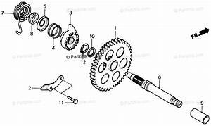 Honda Atv 1988 Oem Parts Diagram For Kick Starter Spindle