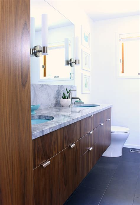 Mid Century Modern Bathroom Sinks by A Mid Century Modern Inspired Bathroom Renovation Before