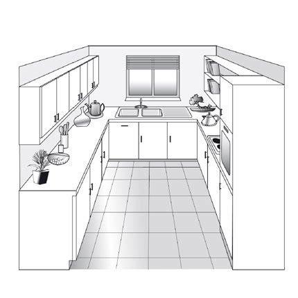 plan cuisine 11m2 plan de cuisine en u