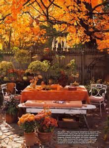 outdoor autumn theme table thanksgiving ideas juxtapost