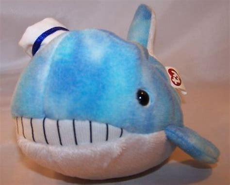 Ty Captain Whale Beanie Baby Stuffed Plush w 2 Books