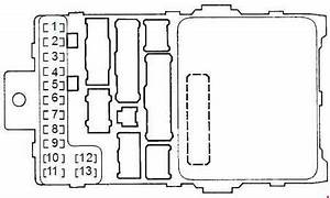 Honda Accord  1997 - 2002  - Fuse Box Diagram