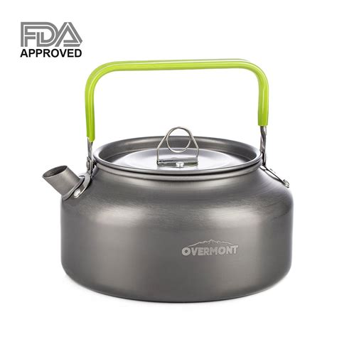camping kettle tea camp pot teapot coffee hiking lightweight portable gear outdoor fda approved compact aluminum pots kettles backpacking amazon