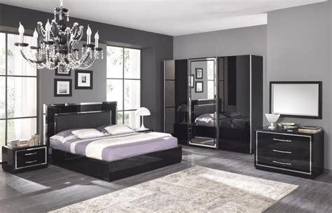 idee chambre a coucher adulte chambre adulte complète design stef coloris noir laqué