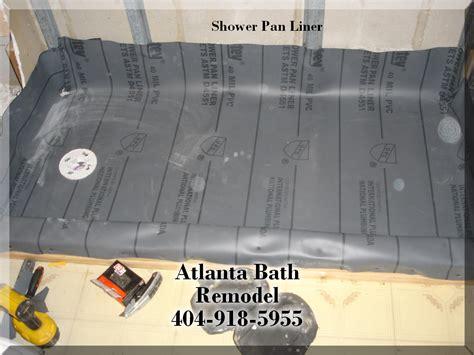 Shower Pans Installation Shower Pan Liner Installation Options Bathroom