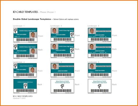 free printable id cards templates government id card template templates station