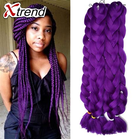 Cheap Synthetic Dreadlock Hair Extensions 42inch Purple