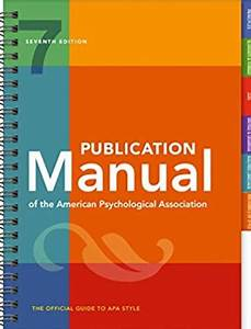 Download Publication Manual Of The American Psychological
