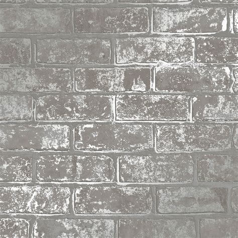 love wallpaper metallic brick wallpaper grey wallpaper