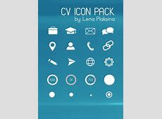CV Icon Pack Free PSD File