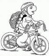 Coloring Pages Bicycle Turtle Franklin Cartoon Bike Sketch Mountain Cycling Printable Popular Rainbow Ninja Uploaded User sketch template