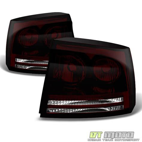 smoked headlights and tail lights 2006 2008 dodge charger smoked led halo headlights dark