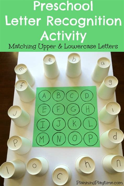 Preschool Letter Recognition Activities  Preschool Letters, Language And Lower Case Letters