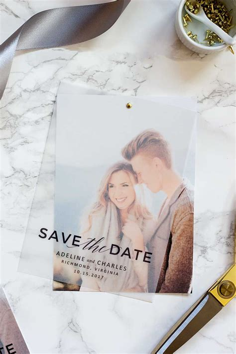 Make these gorgeous layered save the dates with nothing