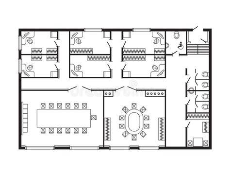 r rig ateur de bureau les meubles de plan architectural de bureau et le dessin d