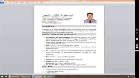 how to insert picture in resume