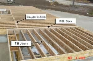 engineered lumber used for residential floor framing