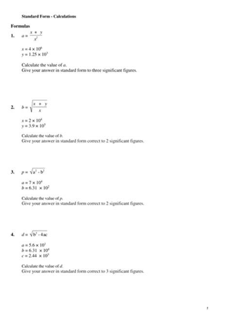 KS3 & KS4. Multiple resources for teaching Standard Form