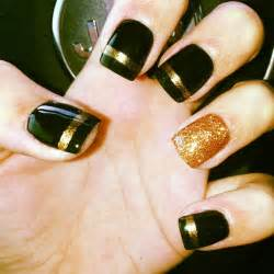 Pics photos black and gold nails nail