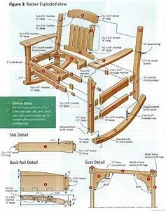 Arts & Crafts Rocking Chair Plan • WoodArchivist