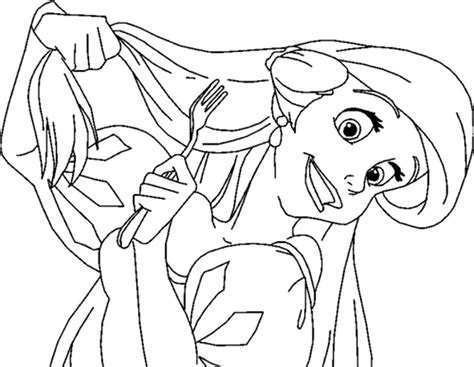 Ariel Brushing Her Hair Little Mermaid Coloring Pages