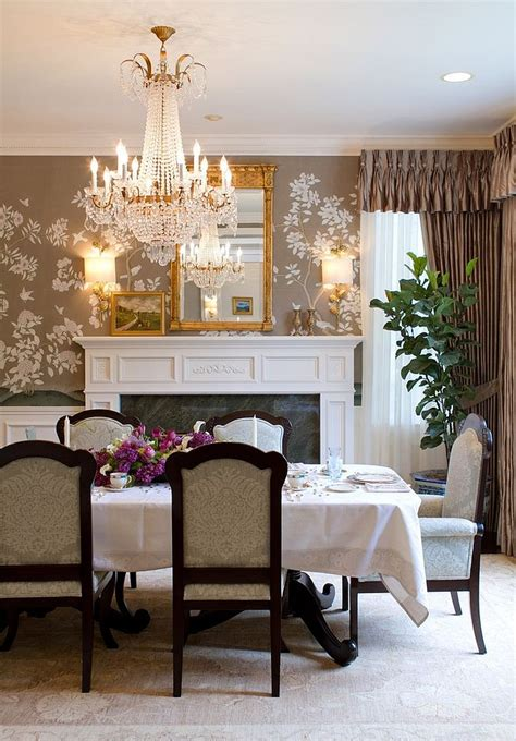 dining room wallpaper accent wall gallery