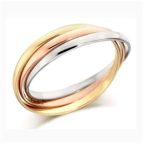 two tone wedding rings tri colour wedding rings cooljoolz