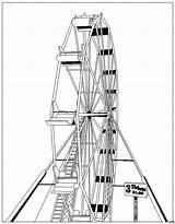 Ferris Wheel Coloring Pages Template Riesenrad Gratis Malvorlagen sketch template