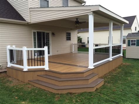 lean  roof   toned clubhouse deck modern deck