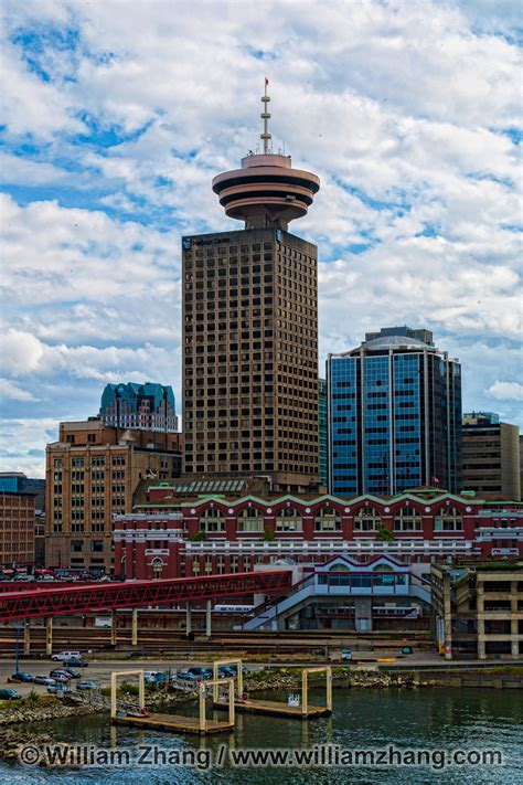 harbour centre tower  waterfront station  vancouver bc
