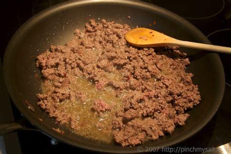 cooking ground beef jason s ultimate manwich pinch my salt