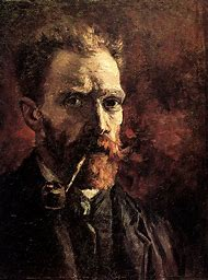 Vincent Van Gogh Self Portrait with Pipe