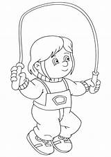 Coloring Rope Jump Pages Jumprope Coloringway sketch template