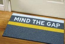 mind the gap doormat mind the gap