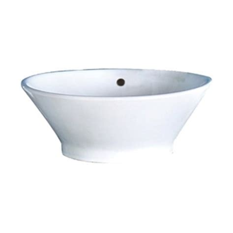 drain kitchen sink d1435cwh celena vessel style bathroom sink white at 3450