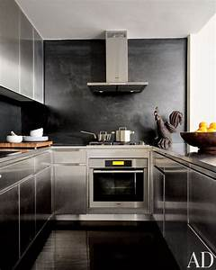 modern kitchen by robert passal interior architectural With kitchen colors with white cabinets with wall art of new york city