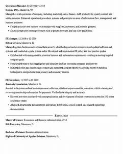 Resume Education Section Data Mining Resume Example Data Analysis Management