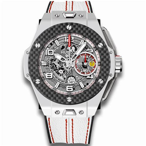 Hublot and ferrari have since collaborated to form an exclusive partnership between the two luxury power brands. Hublot Big Bang Ferrari 401.HQ.0121.VR White Ceramic Carbon Watch | World's Best