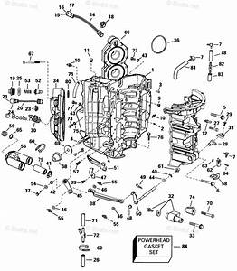 Evinrude Outboard Parts By Year 1998 Oem Parts Diagram For Cylinder  U0026 Crankcase