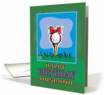 Birthday Happy Golf Husband Ball Cards Card