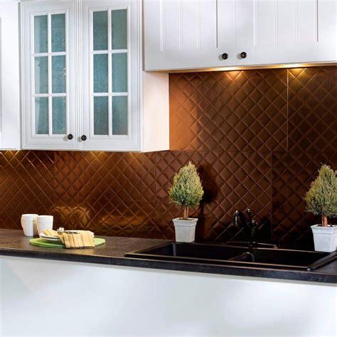 decorative kitchen tile backsplashes fasade 24 in x 18 in quilted pvc decorative backsplash 6502