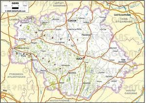 Carte Du Gers Détaillée : carte du gers gers carte du d partement 32 villes sites touristiques ~ Maxctalentgroup.com Avis de Voitures