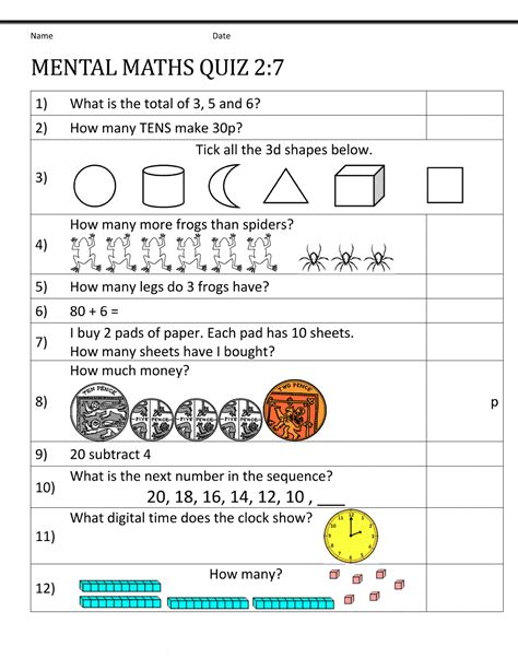 Year 7 Math Worksheets  Printable Shelter