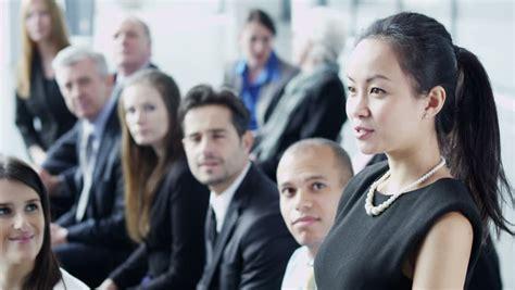 Portrait Large Multi Ethnic Group Business People