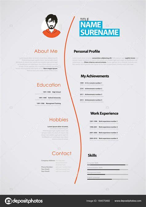 Kreative Lebenslauf by Kreative Lebenslauf Vorlage Mit Papier Streifen