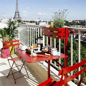 Salon Jardin Balcon : salon de balcon fermob bistro 1 table pliante 2 chaises gamm vert ~ Teatrodelosmanantiales.com Idées de Décoration
