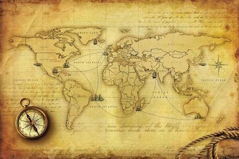 Vinyl Old World Map Wallpaper, Rs 120 /square feet