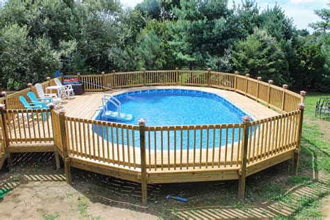 Above Ground Swimming Pools Decks Ideas by Above Ground Swimming Pool Deck Designs Geotruffe