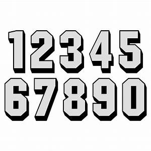 white reflective on black shadow letters numbers With white reflective letters